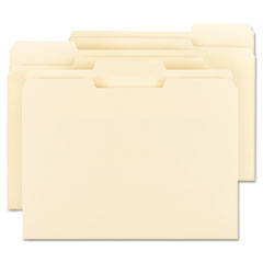 Smead 10346: Recycled 1/3 Top Tab File Folders, 11 Point Manila, 1/3, Letter, Beige, 100 / Box