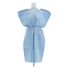 Medline Industries NON24244: Disposable Patient Gowns, 3-Ply T / p / t, 30 In. x 42 In., Blue, 50 / carton