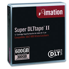 Imation 16988: 1/2 Super DLT II Cartridge, 2066ft, 300GB Native / 600GB Comp. Cap