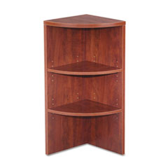 Alera VA621515MC: Valencia Upper End Cap Bookcase, Three-Shelf, 15w x 15d x 35-1/2h, Medium Cherry