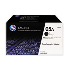 HP CE505D: Hp 05a, ce505d 2-Pack Black Original Laserjet Toner Cartridges