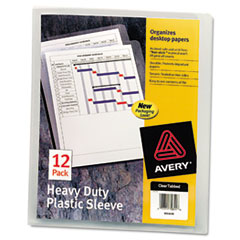Avery 72611: Heavy-Duty Plastic Sleeves, Letter, Polypropylene, Clear, 12 / Pack