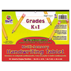 Pacon 2470: Multi-Sensory Handwriting Tablet, 10-1/2 x 8, 40 Sheets / Pad