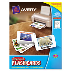 Avery 04760 printable flash cards 2 1 2 x 4 white 8 for Avery flash cards template