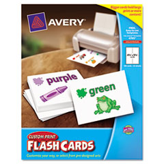 avery flash cards template - avery 04765 printable flash cards 4 1 4 x 5 1 2 white
