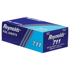 Reynolds Wrap 711: Pop-Up Interfolded Aluminum Foil Sheets, 9 x 10 3/4, Silver, 3000 Sheet / Carton