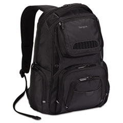 Targus TSB705US: Legend Iq Backpack, 12 3/5 x 10 1/2 x 18 3/10, Black