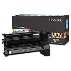 Lexmark C782U1MG: Original Toner Cartridge Laser 16500 Pages Magenta 1 Each