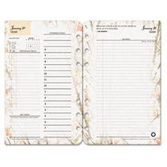 Franklin Covey 3543816: Blooms Dated Daily Planner Refill, January-December, 4 3/4 x 6 3/4, 2018
