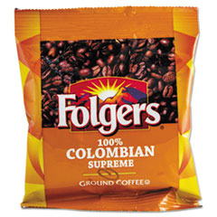 Folgers 06451: Coffee, 100 Colombian, Ground, 1.75oz Fraction Pack, 42 / Carton
