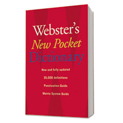 Houghton Mifflin 1019934: Webster s New Pocket Dictionary, Paperback, 336 Pages