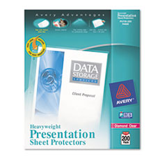 Avery 74400: Top-Load Poly Sheet Protectors, Heavy, Letter, Diamond Clear, 200 / Box