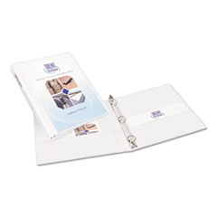 Avery 17002: Durable View Binder with Slant Rings, 11 x 8 1/2, 1/2 Cap, White