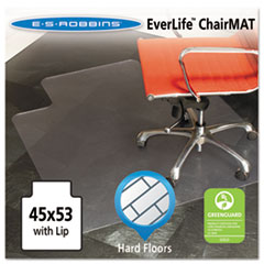 ES Robbins 132123: 45 x 53 Lip Chair Mat, Multi-Task Series for Hard Floors, Heavier Use