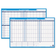 At A Glance PM23928: 90/120-Day Undated Horizontal Erasable Wall Planner, 36 x 24, White / Blue