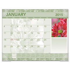 Visual Organizer DMD13532: Antique Floral Monthly Desk Pad Calendar, 22 x 17, Antique Floral, 2015