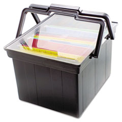 Advantus TLF2B: Companion Portable File Storage Box, Legal / Letter, Plastic, Black