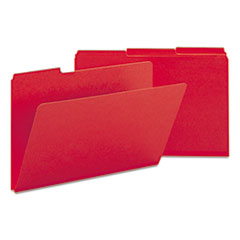 Smead 22538: Recycled Folder, One Inch Expansion, 1/3 Top Tab, Legal, Bright Red, 25 / Box