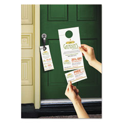 Avery 16150: Door Hanger with Tear-Away Cards, 4 1/4 x 11, Matte White, 10 / Sheet 40 Sheets / Pack