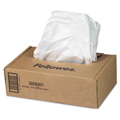 Fellowes 3608401: AutoMax Shredder Waste Bags, 16-20 gal, 50 / CT