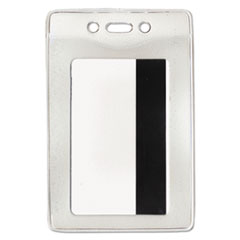 Advantus 75419: Security ID Badge Holder, Vertical, 2 5/8w x 3 7/8h, Clear, 50 / Box