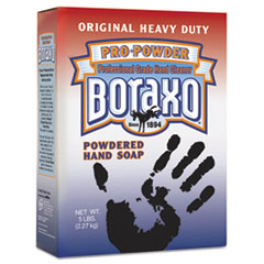 Boraxo 02203EA: Original Powdered Hand Soap, Unscented Powder, 5lb Box