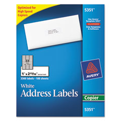 Avery 5351 copier address labels 1 x 2 13 16 white for Avery labels 5351 template