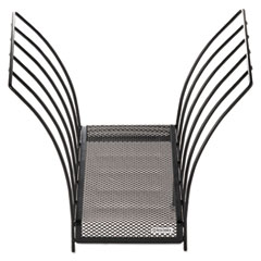 Rolodex 1742326: Butterfly File Sorter, Five Sections, Mesh, 12 x 7 1/2 x 10, Black