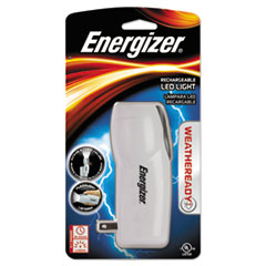 Energizer RCL1NM2WR: Rechargeable LED Flashlight, 1 NiMH, Silver / Gray