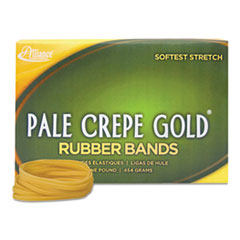 Pale Crepe Gold 21405: Pale Crepe Gold Rubber Bands, Sz. 117B, 7 x 1/8, 1lb Box
