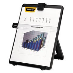 Fellowes 21106: Non-Magnetic Letter-Size Desktop Copyholder, Plastic, 125 Sheet Capacity, Black