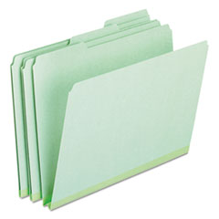 Oxford 17167: Pressboard Expanding File Folders, 1/3 Cut Top Tab, Letter, Green, 25 / box