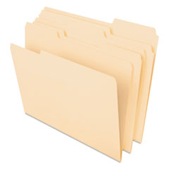 Pendaflex 48420: Cutless File Folders, 1/3 Cut Top Tab, Letter, Manila, 100 / box