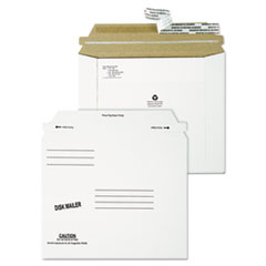 Quality Park 64117: Redi-Strip Economy Disk Mailer, 7 1/2 x 6 1/16, White, Recycled, 100 / Carton