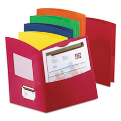 Duo-Tang 5062500: Contour Two-Pocket Reycled Paper Folder, 100-Sheet Capacity, Assorted Colors