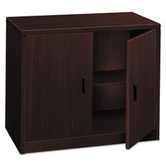 HON 105291NN: 10500 Series Storage Cabinet with Doors, 36w x 20d x 29-1/2h, Mahogany