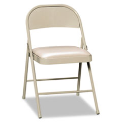 HON FC02LBG: Steel Folding Chairs with Padded Seat, Light Beige, 4 / Carton