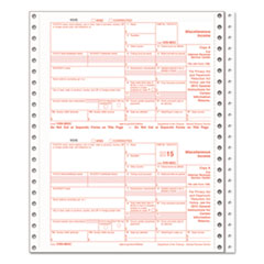 TOPS Forms 22995: 1099-MISC Tax Forms, 5-Part Carbonless, 8 x 5 1/2, 24 1099s 1 1096
