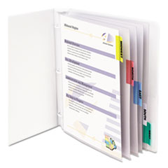 C-Line 05550: Sheet Protectors with Index Tabs, Assorted Color Tabs, 2, 11 x 8 1/2, 5 / ST