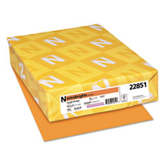 Neenah Paper 22851: Color Cardstock, 65lb, 8 1/2 x 11, Cosmic Orange, 250 Sheets