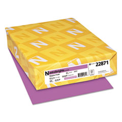 Neenah Paper 22871: Color Cardstock, 65lb, 8 1/2 x 11, Planetary Purple, 250 Sheets