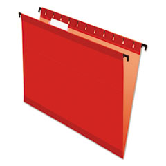 Pendaflex 615215RED: Poly Laminate Hanging Folders, Letter, 1/5 Tab, Red, 20 / box