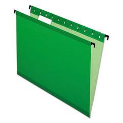 Pendaflex 615215BGR: SureHook Reinforced Hanging Folders Letter 8 1/2 x 11 Sheet Size 1/5 Tab Cut Bright Green Recycled 20 / Box
