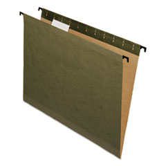 Pendaflex 615215: Poly Laminate Reinforced Hanging Folders, 1/5 Tab, Letter, Green, 20 / box