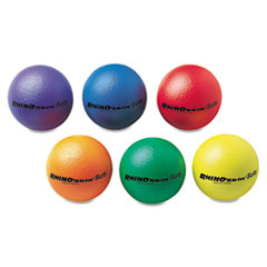 Champion Sports RS65SET: Rhino Skin Ball Sets, 6 1/2, Blue, Green, Orange, Purple, Red, Yellow, 6 / Set