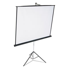 Quartet 570S: Portable Tripod Projection Screen, 70 x 70, White Matte, Black Steel Case
