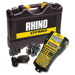 DYMO 1756589: Rhino 5200 Industrial Label Maker Kit, 5 Lines, 4 9/10w x 9 1/5d x 2 1/2h