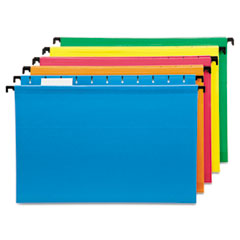 Pendaflex 615315ASST: Poly Laminate Hanging Folders, 1/5 Tab, Legal, Assorted, 20 / box