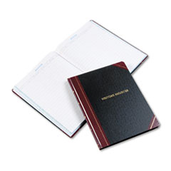 Boorum & Pease 806: Visitor Register Book, Black / Red Hardcover, 150 Pages, 14 1/8 x 10 7/8