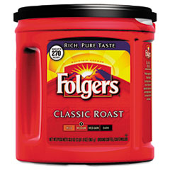 Folgers 00367EA: Coffee, Classic Roast Regular, Ground, 33 9/10oz Can